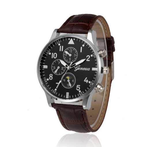 Relogio Masculino Mens Business Watches Sports Military Luxury PU Leather Strap Analog Wrist Watch Men's Top Brand Clock Saat 1