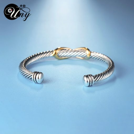 Womans Twisted Wire Bangle Cuff Bracelet 3
