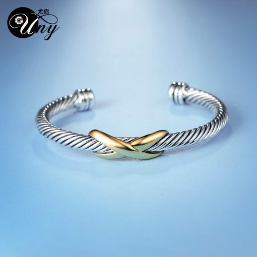 Womans Twisted Wire Bangle Cuff Bracelet 2