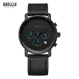 Baogela Chronograph Mens Luxury Watch with Leather Strap 5