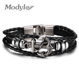 MMultilayer Stainless Steel Anchor Bracelet