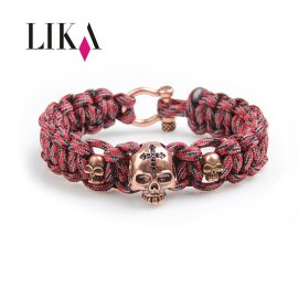 Personality Skull Copper Paracord Bracelet